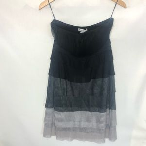 ombré American Rag S black grey strapless dress